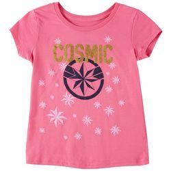 Marvel Captain Marvel Big Girls Cosmic Graphic T-Shirt