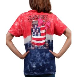 Simply Southern Big Girls Tie Dye Simply Free T-Shirt