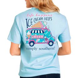 Simply Southern Big Girls Preppy Ice Cream T-Shirt