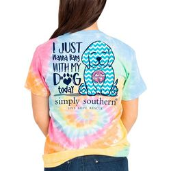 Simply Southern Big Girls Tie Dye Hang With My Dog T-Shirt