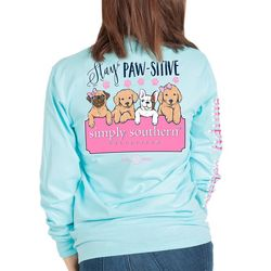Simply Southern Big Girls Stay Pawsitive T-Shirt