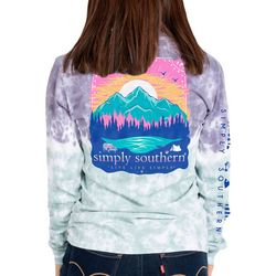 Simply Southern Big Girls Tie Dye Mountains T-Shirt