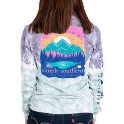 Simply Southern Big Girls Tie Dye Mountains T-Shirt