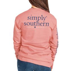 Simply Southern Big Girls Logo Graphic Long Sleeve Top