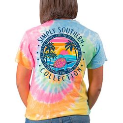 Simply Southern Big Girls Tie Dye Save The Turtles T-Shirt