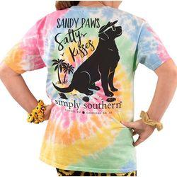 Simply Southern Big Girls Sandy Paws Salty Kisses T-Shirt