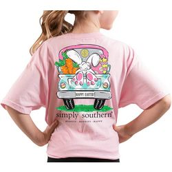 Simply Southern Big Girls Happy Easter T-Shirt
