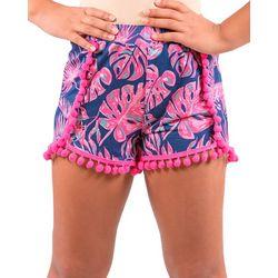 Simply Southern Big Girls Tropical Leaf Shorts