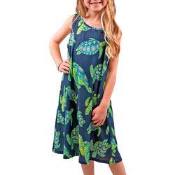 Simply Southern Big Girls Turtle Swing Dress