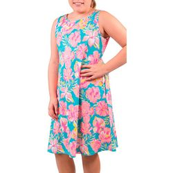 Simply Southern Big Girls Tropica Floral Swing Dress