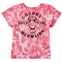 Chubby Mermaids Big Girls Tie Dye T-Shirt