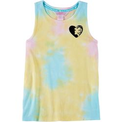 Chubby Mermaids Big Girls Tie Dye Sleeveless Top