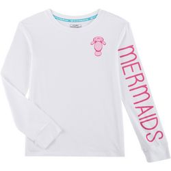 Chubby Mermaids Big Girls Logo Mermaids Long Sleeve Top