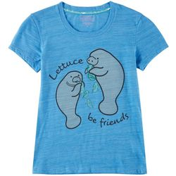Chubby Mermaids Big Girls Lettuce Be Friends T-Shirt