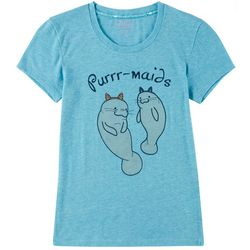 Chubby Mermaids Big Girls Purr-maids Short Sleeve Top