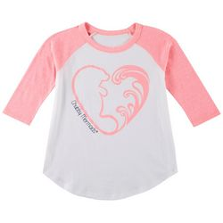 Chubby Mermaids Big Girls Heart Logo T-Shirt