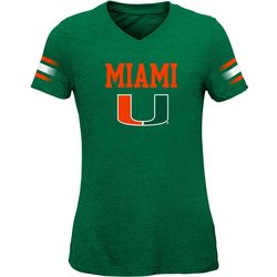 Miami Hurricanes Big Girls Goal Line T-Shirt by Outerstuff
