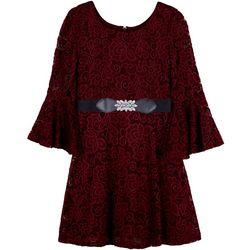 Amy Byer Big Girls Bell Sleeve Lace Dress