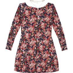 Amy Byer Big Girls Rose Bouquet Long Sleeve