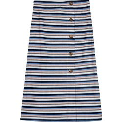 Amy Byer Big Girls Ribbed Stripe Button Down Skirt