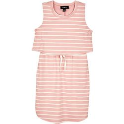 Amy Byer Big Girls Stripe Popover Dress