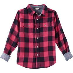 Tailor Vintage Big Girls Reversible Flannel Shirt