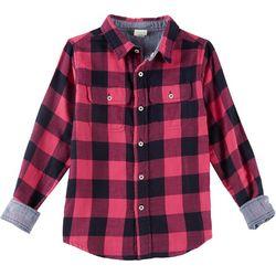 Tailor Vintage Big Girls Reversible Flannel Shirt