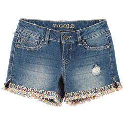 Vigoss Big Girls Pixel Art Denim Shorts