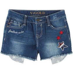 Vigoss Big Girls Freedom Rocks Denim Shorts
