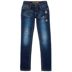 Vigoss Big Girls Jeweled Twilight Skinny Jeans