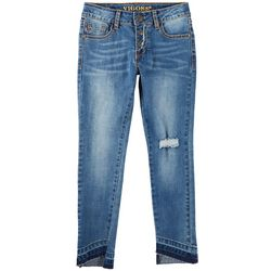 Vigoss Big Girls The Austin Asymetrical Hem Skinny Jeans