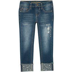 Vigoss Big Girls Cuffed Pearl Skinny Jeans