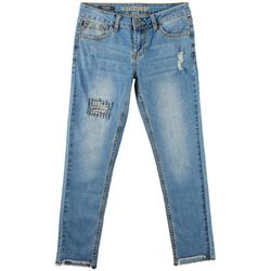Vigoss Big Girls Distressed High Low Skinny Jeans