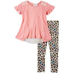 Forever Me Big Girls 3-pc. Leopard Print Leggings Set