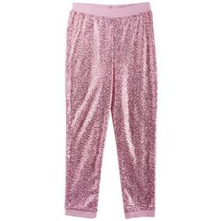Nickelodeon JoJo Big Girls Sequin Jogger Pull-On Pants