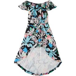 1st Kiss Big Girls Tropical Floral Walkthrough Romper