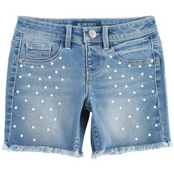 Squeeze Big Girls Scattered Pearl Denim Shorts