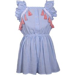 Bonnie Jean Big Girls Stripe Tassel Romper