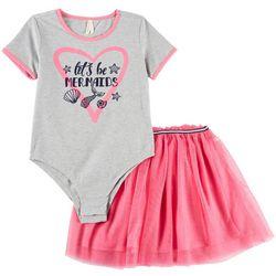 Love @ First Sight Baby Girls Mermaid Tutu Bodysuit Set