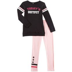 Love @ First Sight Big Girls Today's Outfit Leggings Set