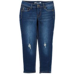 Seven 7 Big Girls Destructed Skinny Jeans