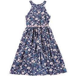 Beautees Big Girls Floral Walkthrough Romper