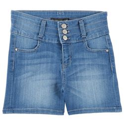 Celebrity Pink Big Girls Triple Button Denim Shorts