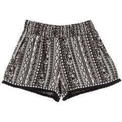 Joe Benbasset Big Girls Stripe Tassel Pull-On Shorts