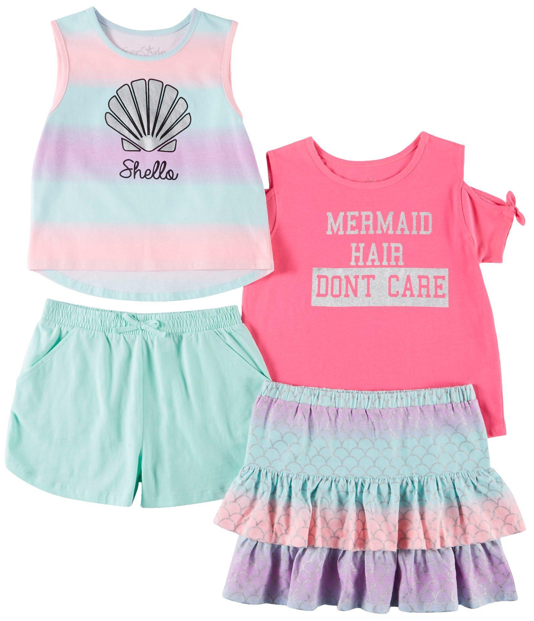 Toddler Girls Sleepwear Lot Of 4 Size 4-5 Moderate Price Disney, Children's Place