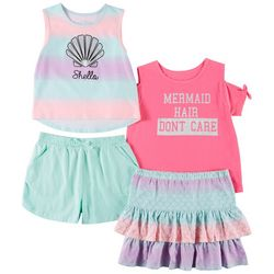 Freestyle Big Girls 4-pc. Mermaid Hair Don't Care Skirt Set
