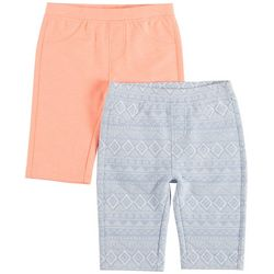 Freestyle Big Girls 2-pk. Ikat and Solid Bermuda Shorts