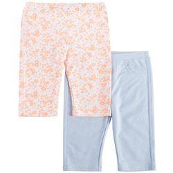 Freestyle Big Girls 2-pk. Floral Denim Bermuda Shorts