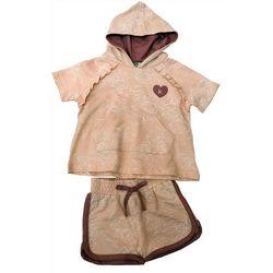 Kensie Girl Big Girls 2-pc. Suzette Floral Hooded Shirt Set