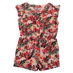 Kensie Girl Big Girls Floral Button Down Romper